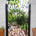 Floral And Leaf Garden Gate