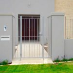 Industrial Grey Metal Gate And Fence
