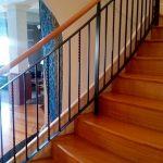 Modern Black Woodrail Balustrade