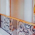 Ornate Wooden Handrail Balustrade