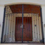 Portico Peacock C Scroll Gate