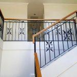 Stamped Leaf Scroll Stair Balustrade