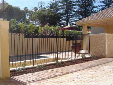Tuscan Black Pool Fence