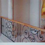Woodrail With Black Scrolls Balustrade