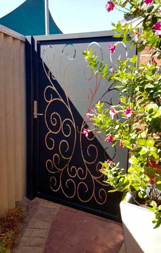 Rustic Peacock Scroll Gate