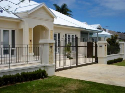 Sliding Driveway Gate And Fence